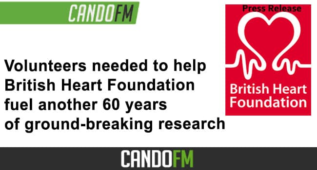 Volunteers needed to help British Heart Foundation fuel another 60 years of ground-breaking research