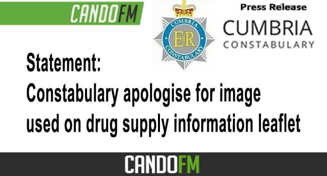 Statement: Constabulary apologise for image used on drug supply information leaflet