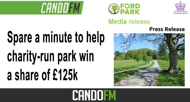 Spare a minute to help charity-run park win a share of £125k